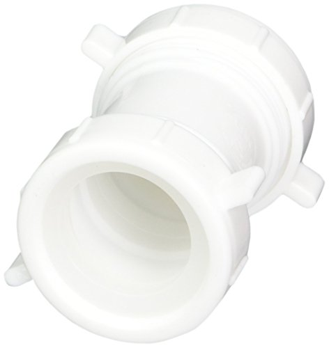 Eastman 35331 Durable Polypropylene Slip Joint Connection Coupling with Reducing Washer for Tubular Drain Applications, White, 1-1/2-inch (Slip Joint Coupling)