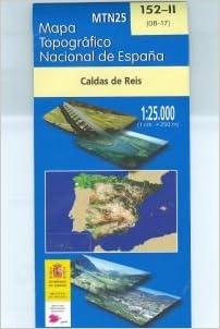 Caldas De Reis Mapa.152 Ii Mapa Topografico Caldas De Reis 1 25 000