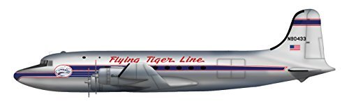 Hobby Master 1:200 HL2022 Douglas C-54A N90433, Flying Tiger Line, 1955 by Hobby Master ()