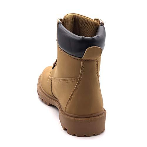 Cm Tacón Acolchado Angkorly Deportivos Camel Básica Zapatillas Zapato Excursionismo Botines 3 Militares Moda Ancho Mujer Botas Montaña xxS7wHBq
