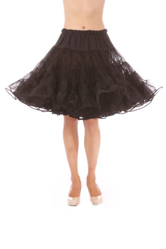 Lindy Hop Dress Costume (Dance Petticoat Pettiskirt Underskirt Tutu Crinoline by Malco Modes Black)