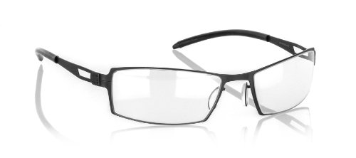 Gunnar Optiks G0005-C00103 SheaDog Full Rim Color Enhanced Computer Glasses with Crystalline Lens for Graphic Designers and Headset Compatibility, Onyx Frame Finish