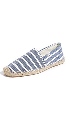 - Soludos Men's Original Classic Stripe Sandal, Light Navy White, 11.5 D US
