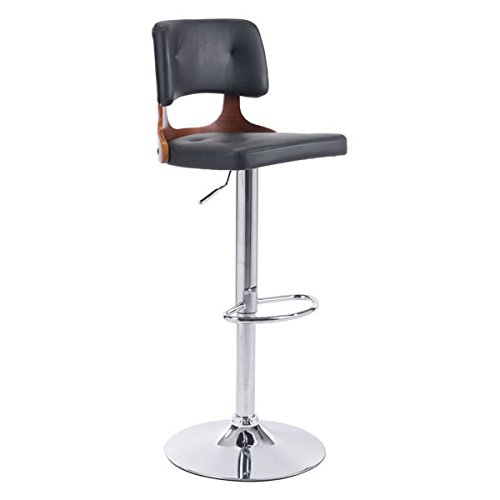 Zuo Lynx Bar Chair, Black (Best Zuo Modern Home Furnishings Lift Chairs)