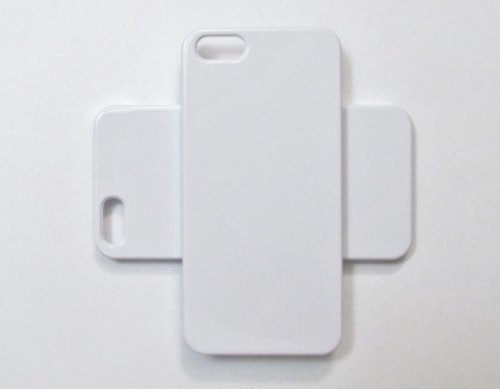 wholesale dealer 649da 83339 Leegoal DIY White Hard Snap-on Cover Case for Apple iPhone 5 - by Pixiheart