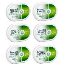 Breath Savers Protect Sugar Free Mints Spearmint 6 Count