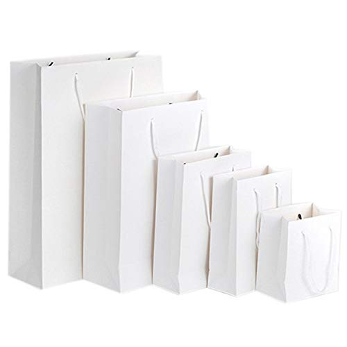 (Bags With - Gift Paper Bag With Handle White 20 10 28cm - Rack Travel Rfid Matching Extra Volleyballs Treat Free Large Ball)