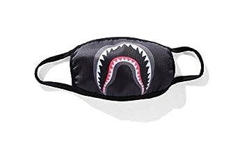 Whobabe personalidad tiburón polvo de la manera máscaras máscaras de camuflaje máscara negra (Negro)