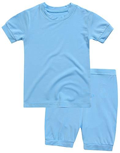 Boys Short Sleeve Sleepwear Pajamas 2pcs Set Short Colorful Sky XL