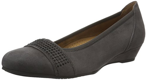 Zapatos grises formales Gabor Comfort para mujer