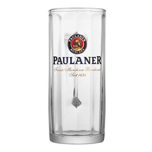 Paulaner Faceted Glass Beer Mugs 0.5 Liter | Set of 2 Mugs | Made in Germany