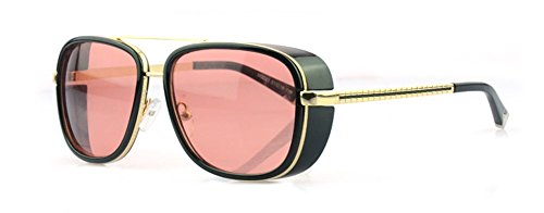 28e7c5ab1ec Outray Unisex Cover Side Shield Square Sunglasses A15 Red (B00EU6BJLO)
