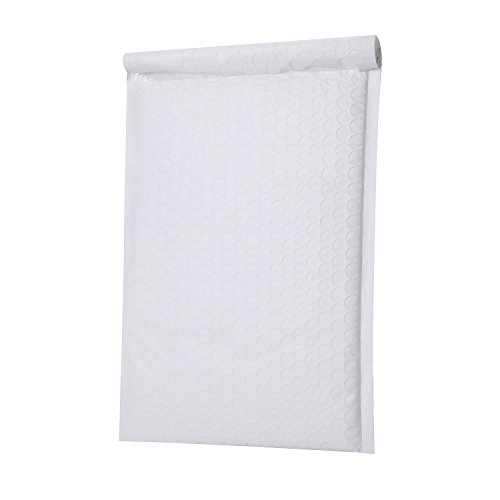 Poly Self Seal Bubble - PackaPro #3 Poly Self-Seal Bubble Mailer 9X14 Special Extra Wide (actual size 10X14) Padded Envelopes Pack of 25 - White