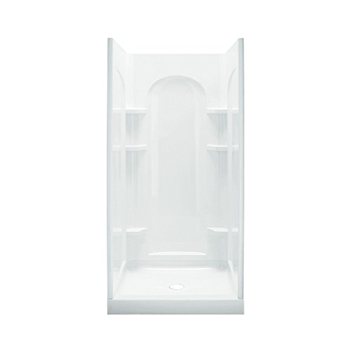 Sterling Shower Module - STERLING 72200100-0 Ensemble Shower Kit, 36-Inch x 34-Inch x 75.75-Inch, White