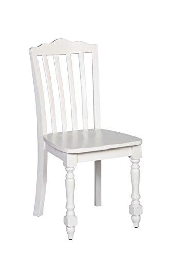 Hillsdale Furniture Hillsdale Lauren, White Chair, (Wood White Chairs Desk)