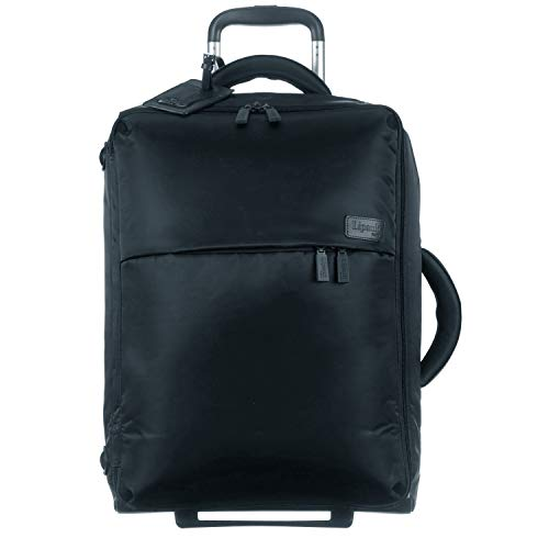 Ultralight Wheeled Upright - Lipault - 0% Pliable Foldable Upright 55/20 Luggage - Carry-On Rolling Bag for Women - Black