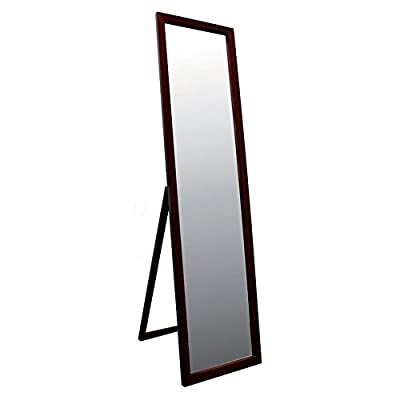 Ore International 55 in. Stand Mirror - Walnut Finish