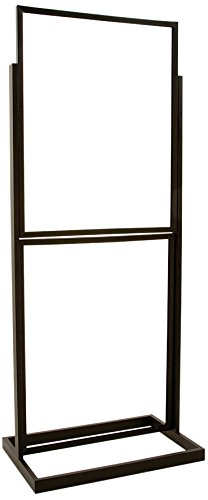 - Econoco BH55/MAB Double Bulletin Sign Holder with Rectangular Tubing Base, Matte, 22