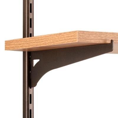 8.6 in. x 2.3 in. Bronze Single Track Shelf Bracket