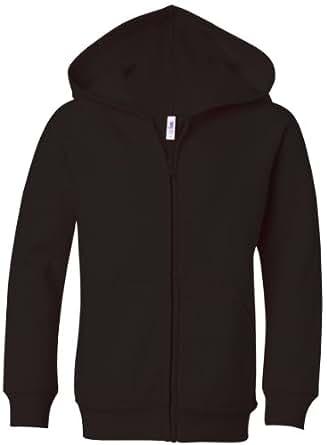 bella girl Full-Zip Hooded Sweatshirt, Black, L
