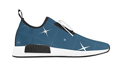 POP Creation Women Breathable Shoes Lady Walking Sneaker For Star Design White02 bPWAqe6bSh