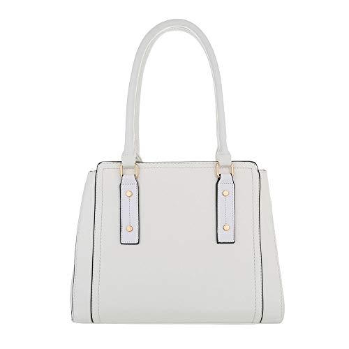 Ital-Design , Sac pour femme à porter à l'épaule Blanc Weiß One Size