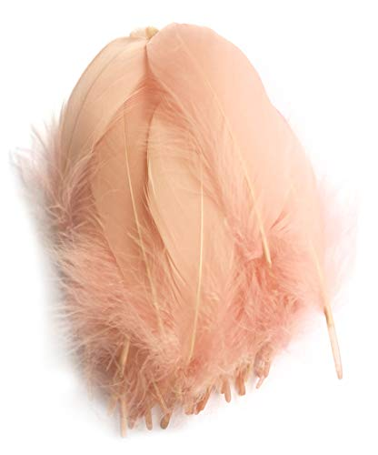 - Colorful Goose Feathers, for DIY Craft Wedding Home Party Decorations 50pcs/Pack/ (4-7.8 inch) (Skin Color)