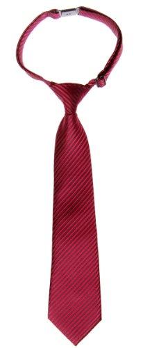Retreez Woven Pre-tied Boy's Tie with Stripe Textured - Burgundy - 6 - 18 months