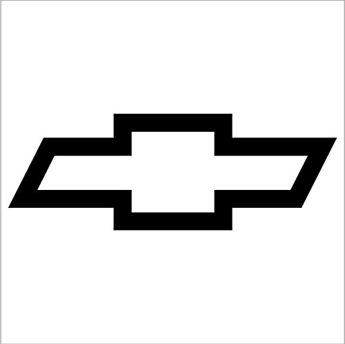 Crawford Graphix Bowtie Sticker for Chevrolet Chevy - Car Truck Window Sticker Decal 2 Pack (3