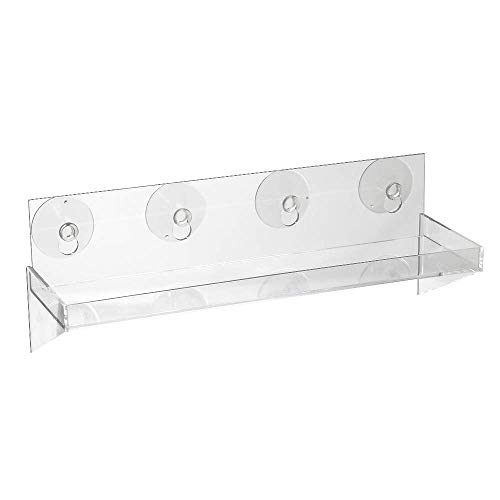 Window Shelf for Indoor Plants | Suction Cup Mounted | Create an Indoor Garden, Seed Starter, Grow Herbs, MicroGreens Tray or Succulents Holder | Extender for Kitchen Ledge (Indoor Window Planters Ledge)