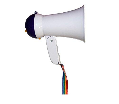 Megáfono altavoz profesional portátil con ajuste de volumen sirena y mango plegable emi home