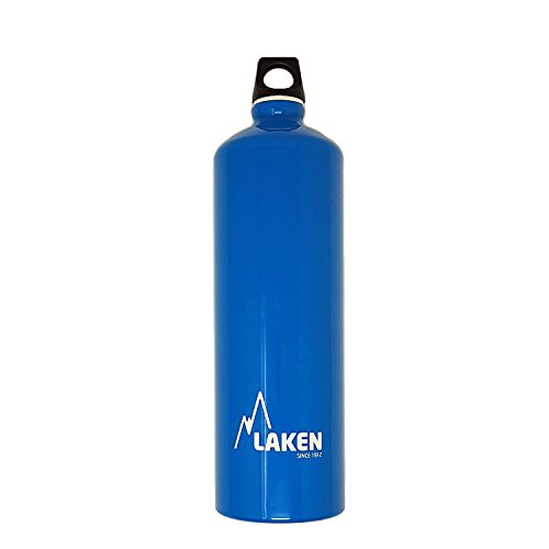 Laken Futura Water Bottle Narrow Mouth Screw Cap with Loop - 34 oz, Sky Blue Aluminum Wide Mouth Bottle