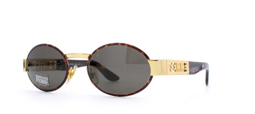 Gianfranco Ferre 368 6SB Brown and Gold Authentic Men - Women Vintage - Ferre Sunglasses