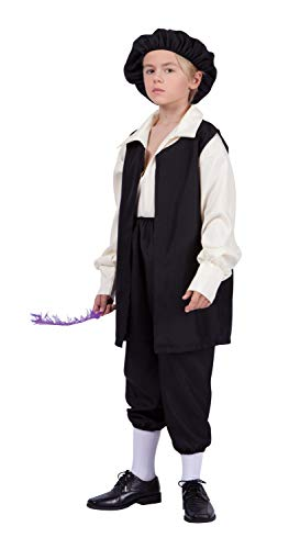 RG Costumes Renaissance Boy Costume, Black/Cream, Large -