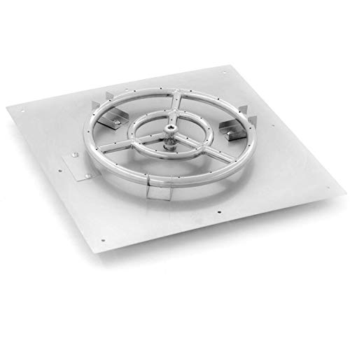 Firepit Flat Pan with Circle Burner 18