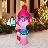 Trolls Poppy with Candy Cane, 5 Christmas Gemmy Airblown Inflatable