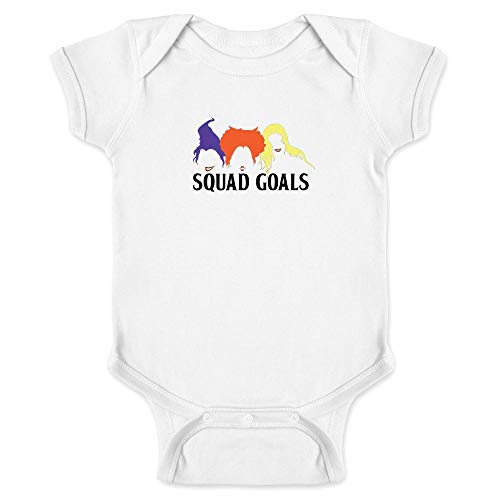 Pop Threads Squad Goals Witches Halloween Costume White 6M Infant Bodysuit ()