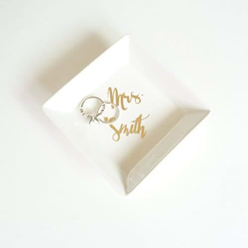 amazon com custom ceramic white and gold foil small