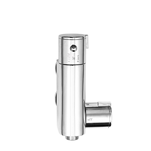 Copper Smart Thermostat Mixer Vertical Flush Faucet Hot And Cold Water Mixing Valve ()