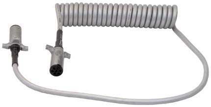 Tectran 7STS622MG Powercoil-Standard Duty, Silver, 6/12-1/10 Gauge, 20', 2 x 12 Lead Length, 2 with Spring Guard