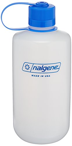 Nalgene HDPE 32oz Narrow Mouth BPA-Free Water Bottle (Polyethylene Bottle)