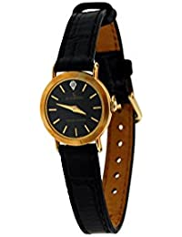Le Chateau Womens Black Leather Watch