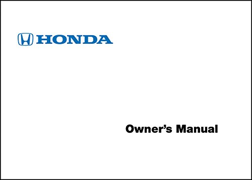 Price comparison product image 2017 Honda Accord 2 Door Coupe Owner's Manual Guide Book