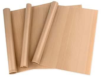 """3 Pack PTFE Teflon Sheet for Heat Press Transfer Sheet Non Stick 16 x 20"""" Heat Transfer Paper Reusable Heat Resistant Craft Mat"""