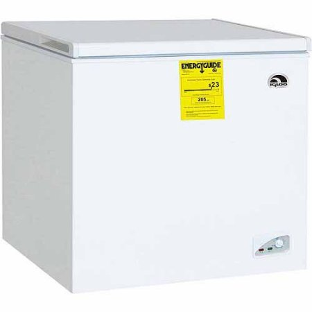 Igloo FRF470 7.1 cu ft Adjustable Thermostat Chest Freezer, White