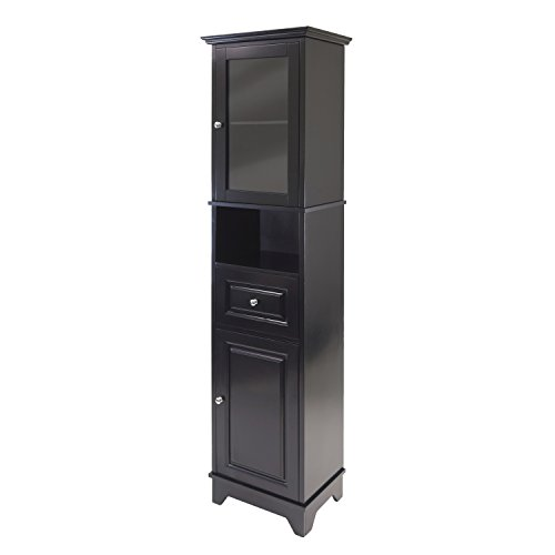 Winsome Wood Alps Tall Cabinet with Glass Door and Drawer by Winsome