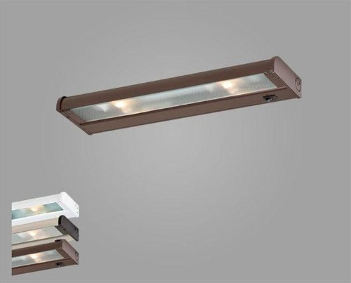 CSL Lighting  NCA-120-16BZ Counter Attack 16IN Undercabinet Fixture, Bronze Finish with Prismatic Glass Diffuser (Csl Lighting New Counter)