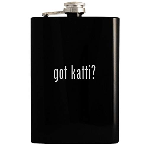 got katti? - 8oz Hip Drinking Alcohol Flask, Black