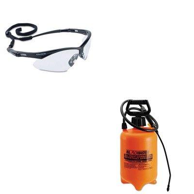 KITKIM25676RLF1992A - Value Kit - 2 Gallon Acid Resistant Sprayer with Viton Seals (RLF1992A) and Jackson* Safety Brand Nemesis Safety Glasses (KIM25676)