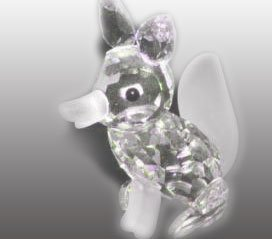 (Swarovski - Figurine, Large Fox with Frosted Nose)
